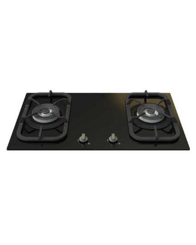 CH2義大利ZEPA原裝進口 黑色雙口安全玻璃瓦斯爐
