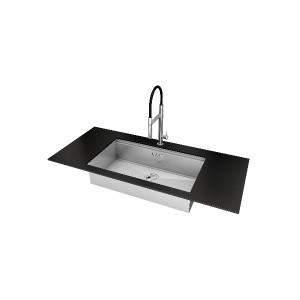 1014 850義大利FOSTER原裝進口不銹鋼下嵌單槽水槽 (期貨)