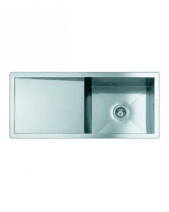 1210 090 義大利FOSTER原裝進口不銹鋼平接直角方行附斜平台單槽水槽 (期貨)