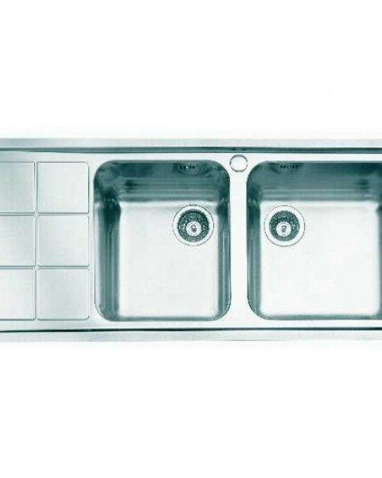1318 06 義大利FOSTER原裝進口3MM斜角處理不銹鋼雙槽水槽 (期貨)