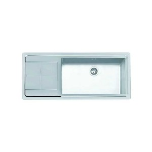 2211 051 DX 義大利FOSTER原裝進口3MM斜角處理不銹鋼單槽水槽 (期貨)